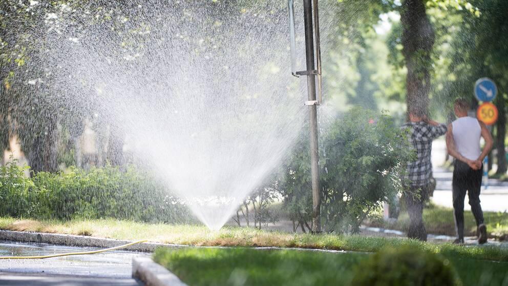 Enköping är en av kommunerna som uppmanar till att spara med vatten.