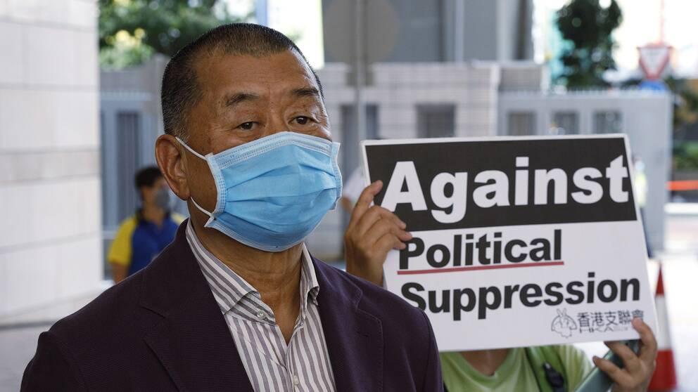 Jimmy Lai, grundare av Hongkong-tidningen Apple Daily.