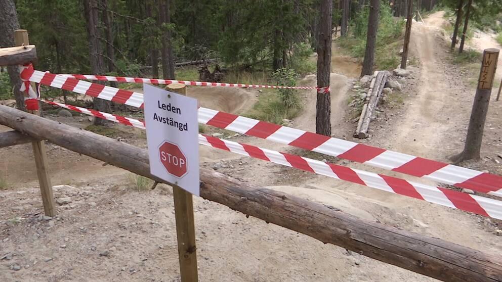 Cykelleden där Alexander kraschade är nu avstängd.