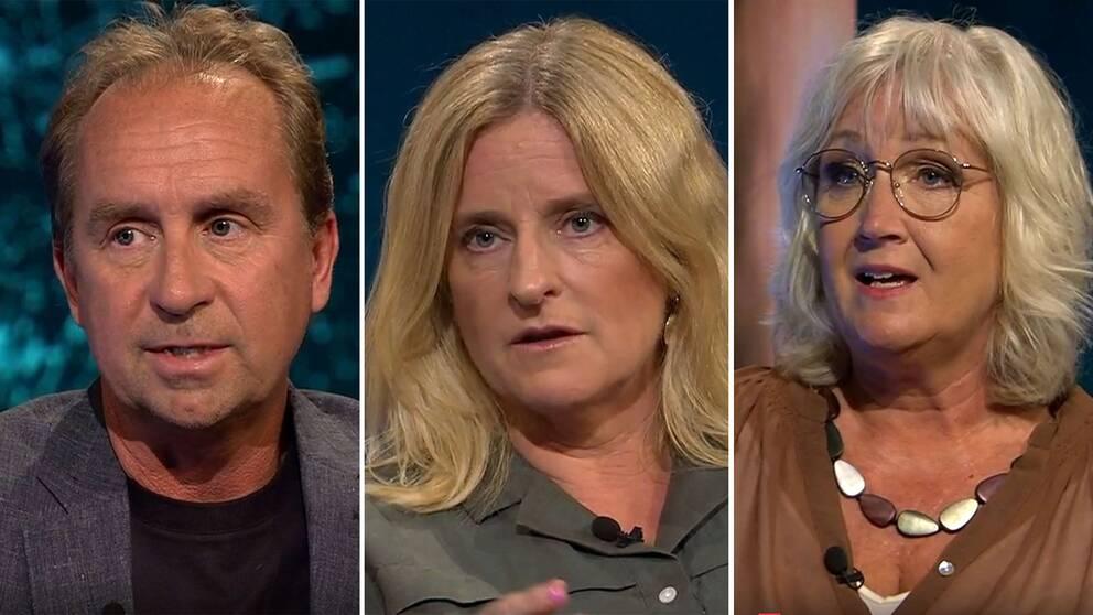 Stefan Åsberg, USA-korrespondent, Ulrika Bergsten, Asienkorrespondent och Erika Bjerström, klimatkorrespondent