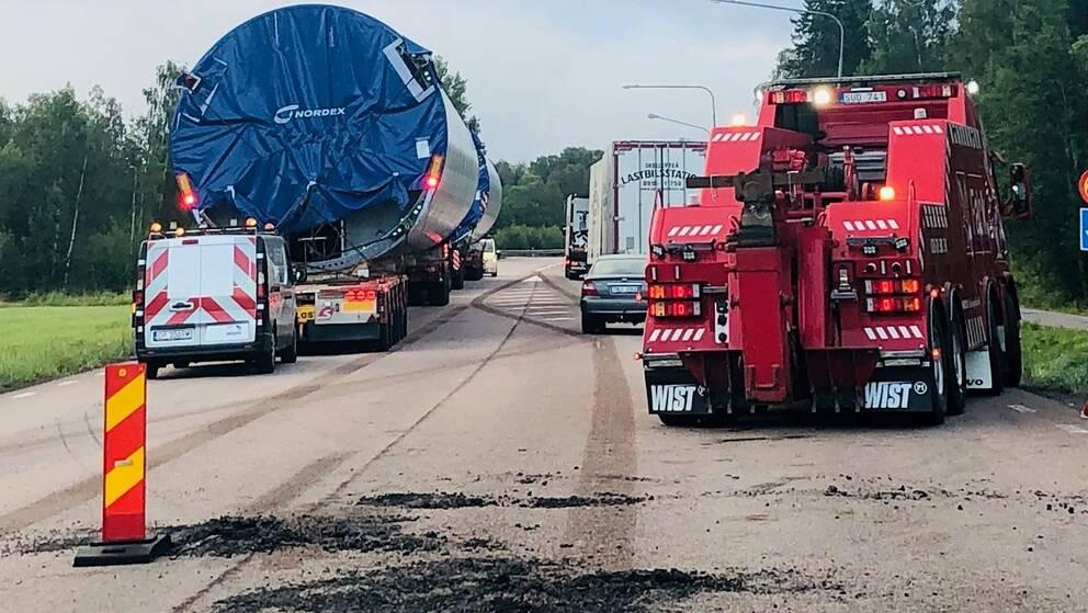 Trafikolycka på E4 norr om Härnösand.