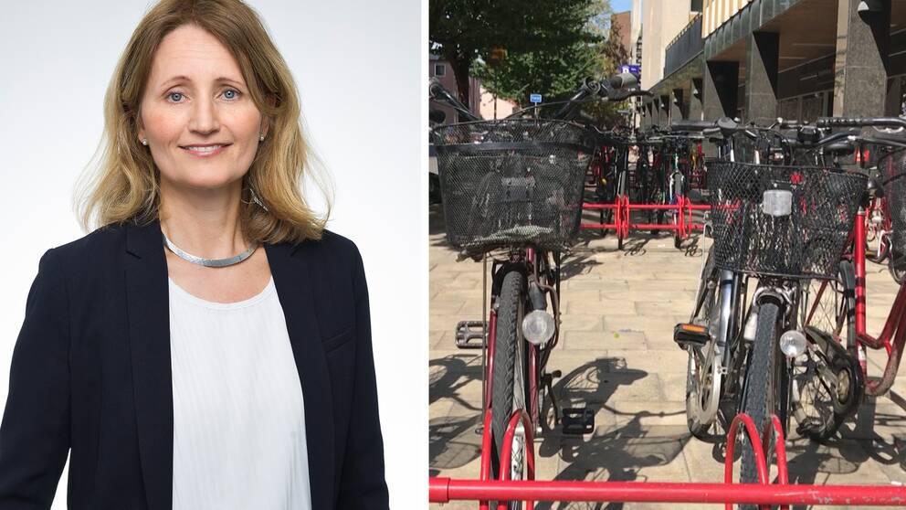 Grundskolchef Christina Stenhammar vill att så många som möjligt går eller cyklar till skolan