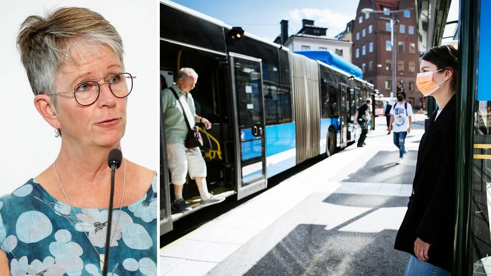 Helena Leufstadius, vd för Svensk Kollektivtrafik, säger att resurser kan komma att omfördelas och att en del turer därför kan ställas in.
