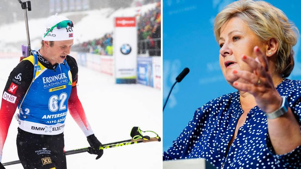 Vetle Sjåstad Christiansen lyssnar inte på Erna Solberg.