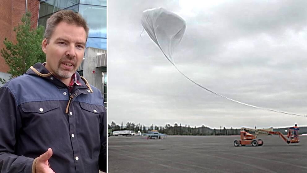 Hör forksaren Johan Kero vid Institutet för rymdfysik berätta om ballongprojektet genom att starta klippet