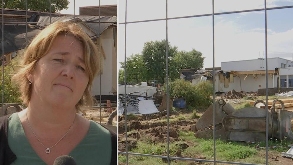 Starta klippet för att se hur Tjärnaängskolan i Borlänge ser ut i dag, efter branden tidigare i år, och hör rektor Jenny Sandelin berätta om läget inför skolstarten