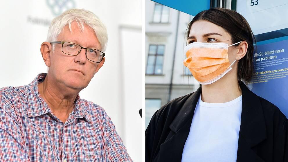 Vi har aldrig avrått från munskydd, säger Johan Carlsson, Folkhälsomyndighetens generaldirektör