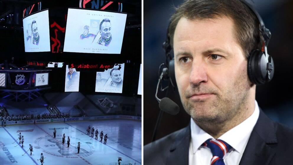 I nattens NHL-matcher hölls en tyst minut för Dale Hawerchuk. Mikael Renberg sörjer sin förre lagkamrat.