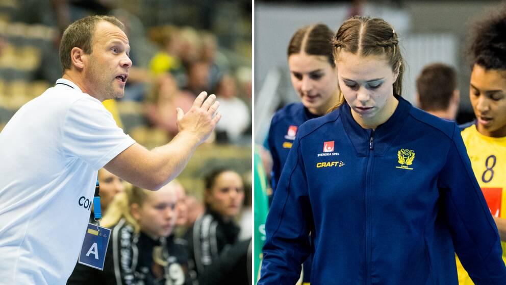 Köpenhamns tränare Claus Mogensen och Olivia Mellegård