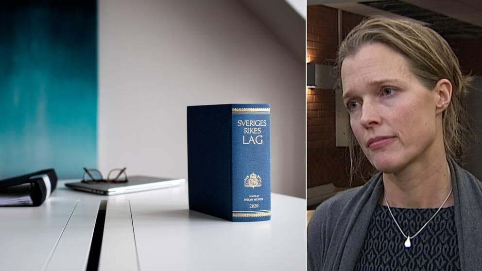 En lagbok ståendes på ett bord