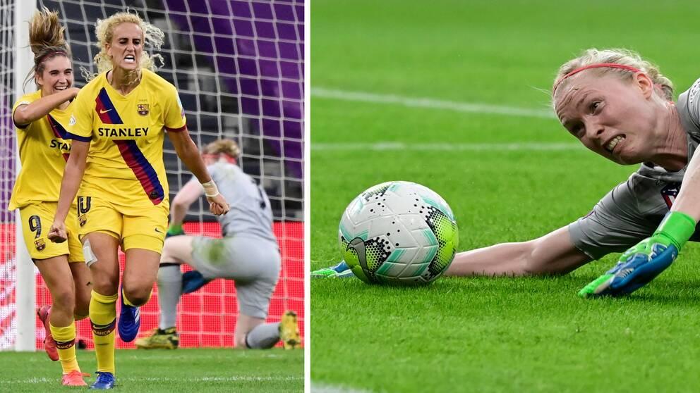 Det blev förlust för Hedvig Lindahls Atletico Madrid mot Barcelona.