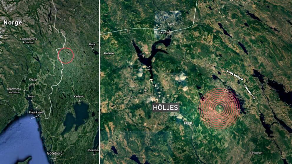I ett område öster om Höljes söker polisen sedan fredagseftermiddagen en skadskjuten björn, som man varnar för är mycket uppretad och direkt farlig för allmänheten.
