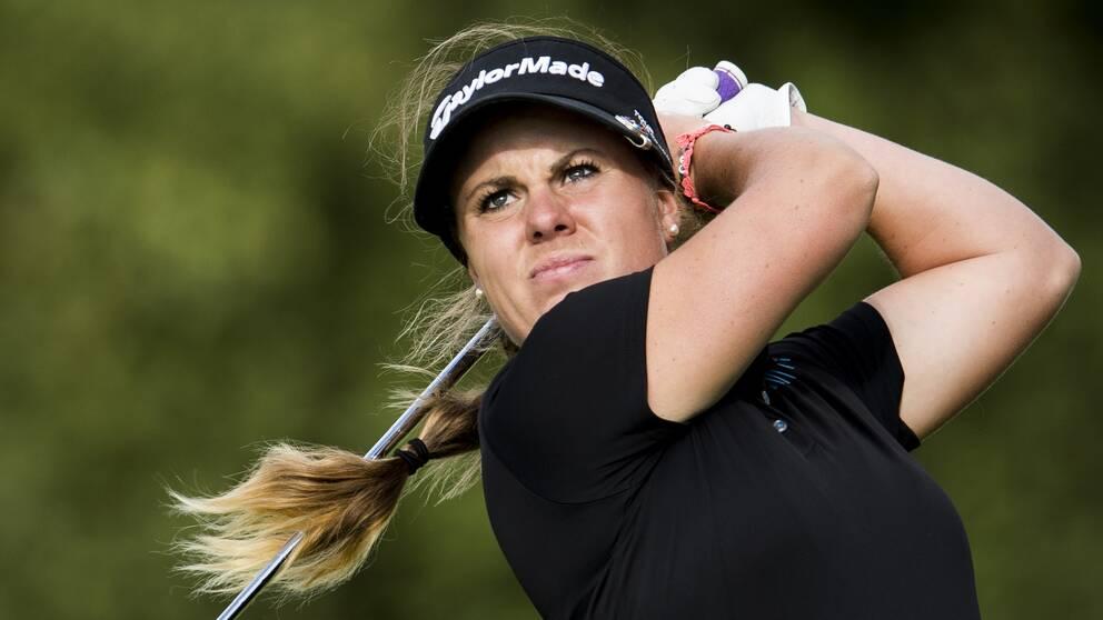 Daniela Holmqvist under Helsingborg Open. Arkivbild.