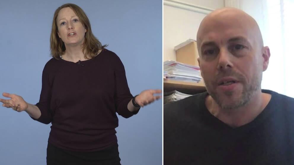 SVT:s reporter Karin Airaksinen och forskaren Patrik Öhberg
