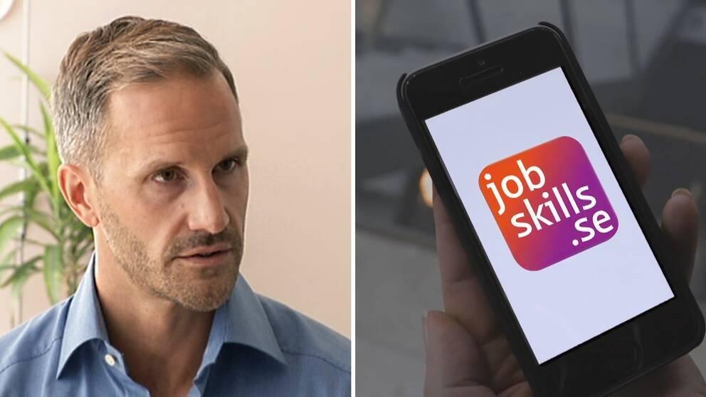 Erik Sandström arbetar inte längre kvar på Arbetsförmedlingen, där han var direktör för avdelningen AF Direkt.