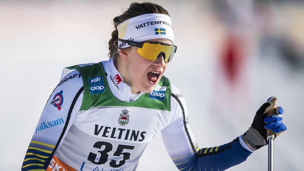 Ebba Andersson kommer inte till start i Trollhättan.