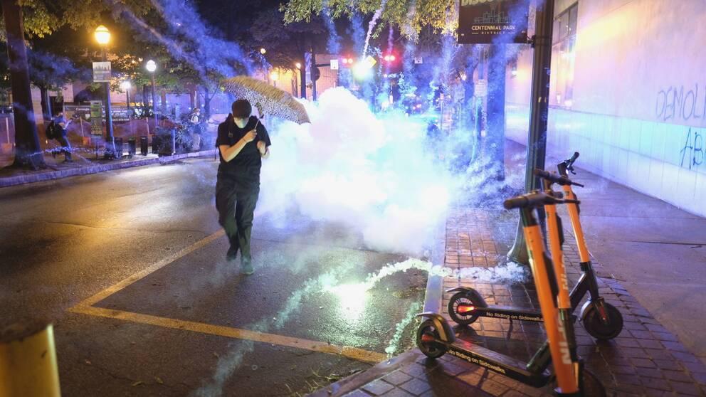Kenosha har skakats av våldsamma protester mot polisvåld sedan i söndags.