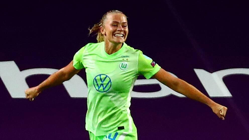 Fridolina Rolfö efter målet mot Barcelona