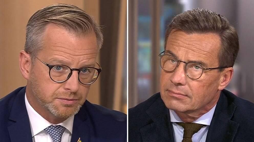 Mikael Damberg (S) och Ulf Kristersson (M) möttes i Morgonstudion