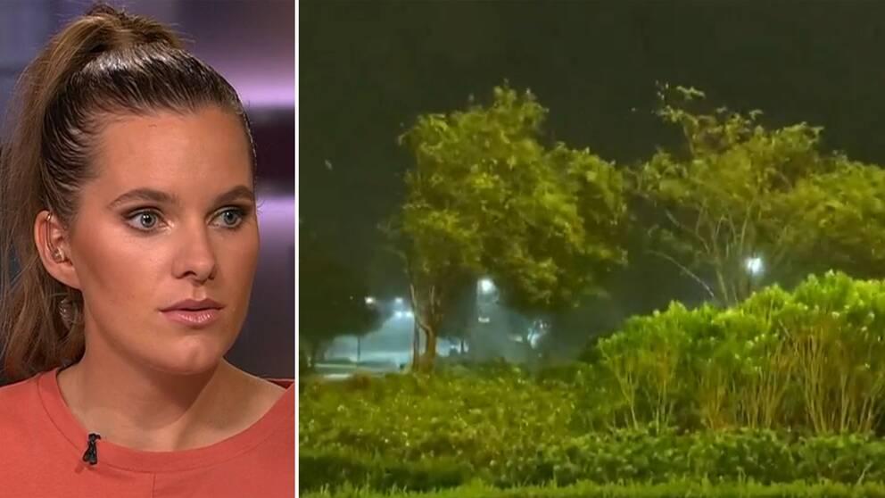 SVT:s metereolog Tora Tomasdottir: Hus kommer att förstöras helt