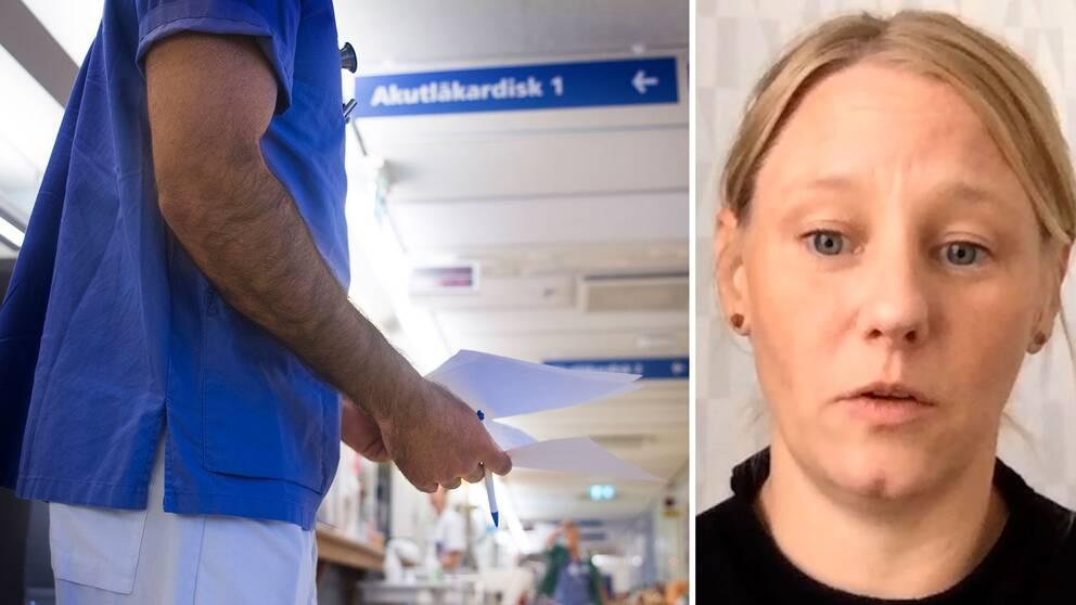 Läkaren Anna-Karin Agvald: Patienter tar sig hela vägen in i mottagningsummet trots att de har symptom.