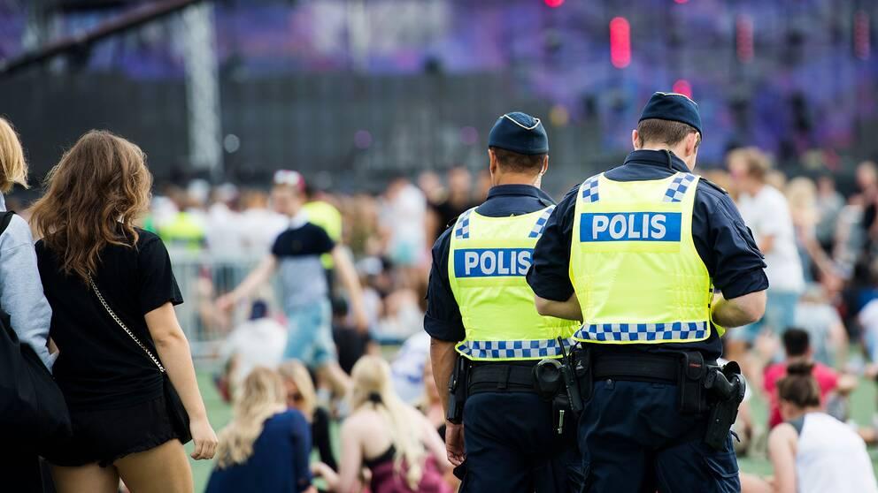 Polis vid konsert