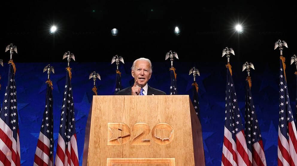 Demokraternas presidentkandidat Joe Biden den 20 augusti 2020.