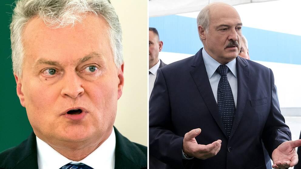 Gitanas Nauseda och Alxander Lukasjenko
