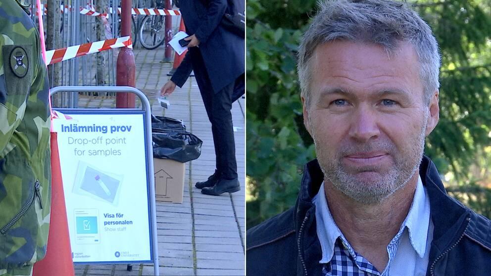 Stephan Stenmark, smittskyddsläkare vid region Västerbotten, berättar om Sveriges största prevalensundersökning av covid-19 på Umeå universitet.