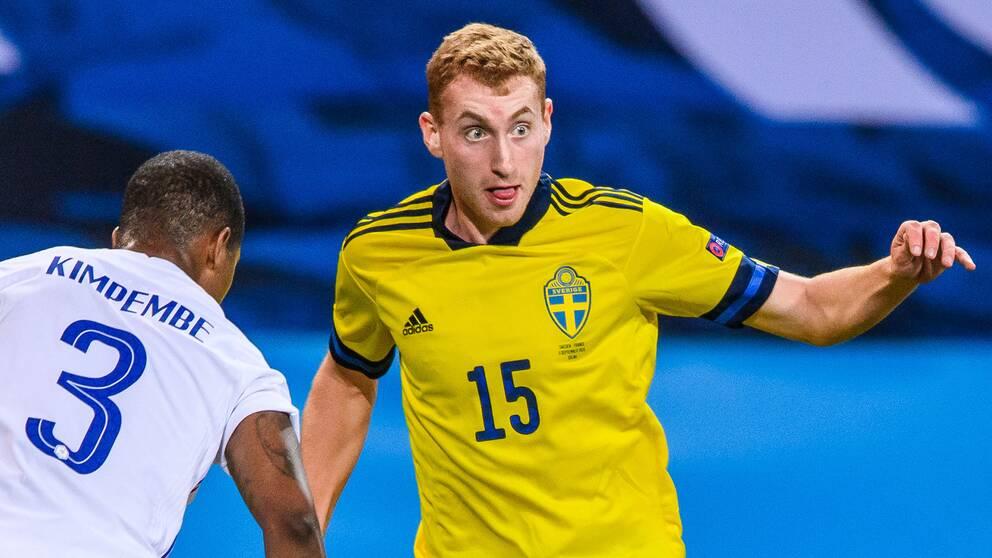 Dejan Kulusevski blev inbytt med 20 minuter kvar mot Frankrike.