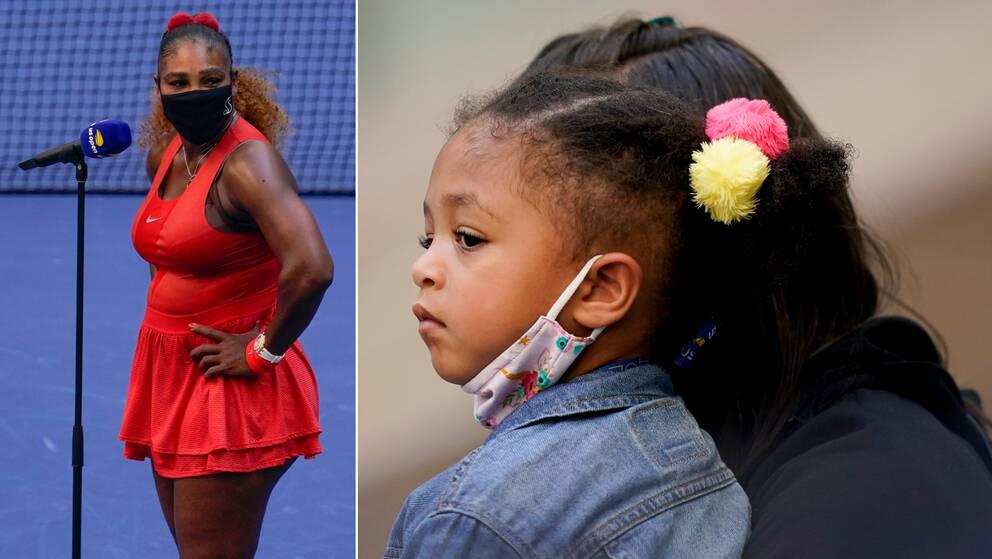 Serena Williams tycker att det är jobbigt att inte kunna ägna all sin tid åt dottern Olympia.