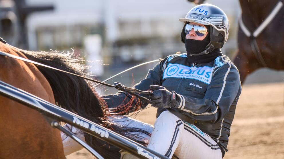 Robert Bergh tog fjärde segern i Svenskt travderby (Arkivbild)