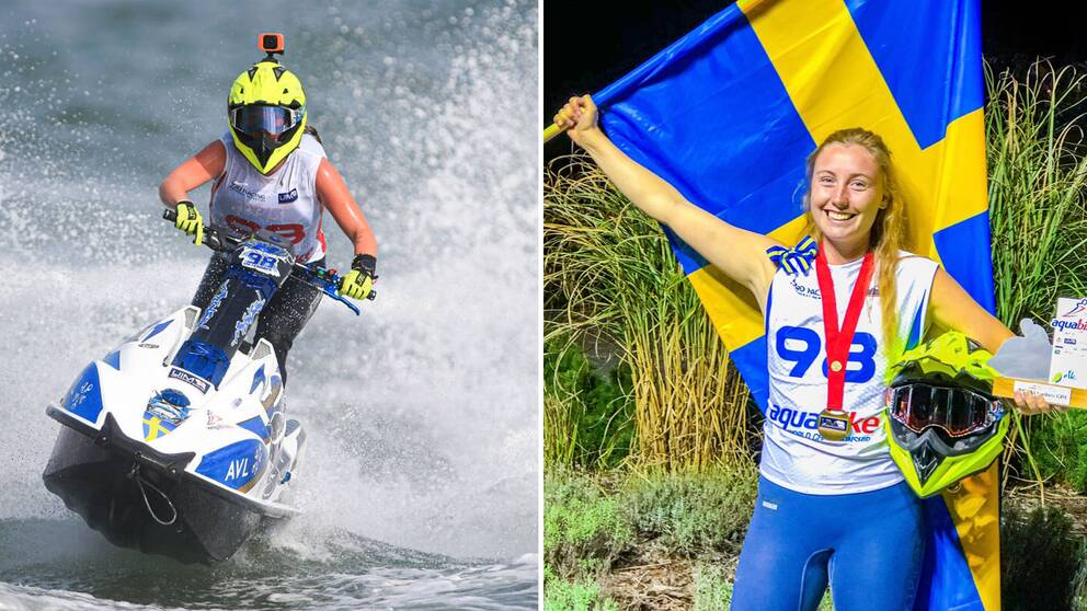 Emma-Nellie Örtendahl tog EM-guld i aquabike