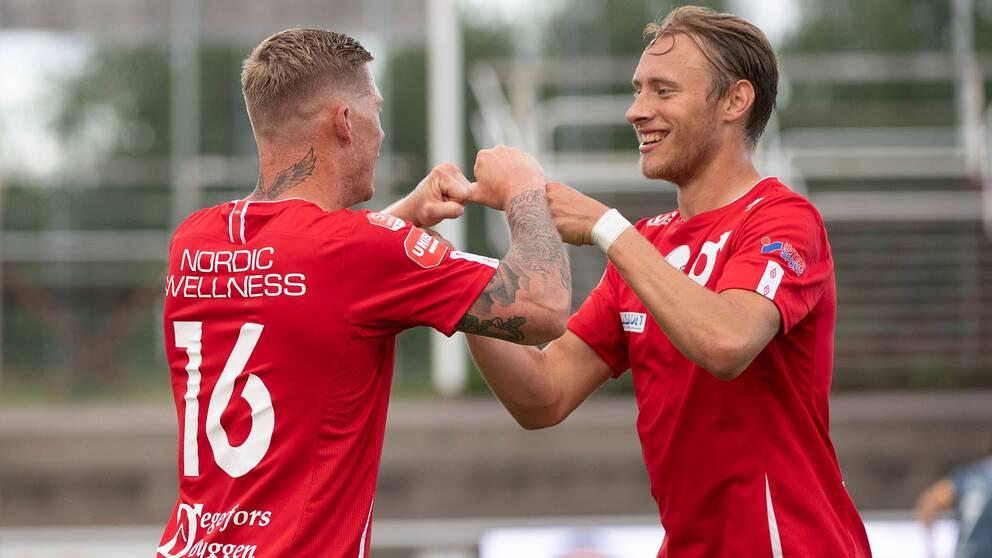 Victor Edvardsen och Johan Bertilsson. ARKIV.