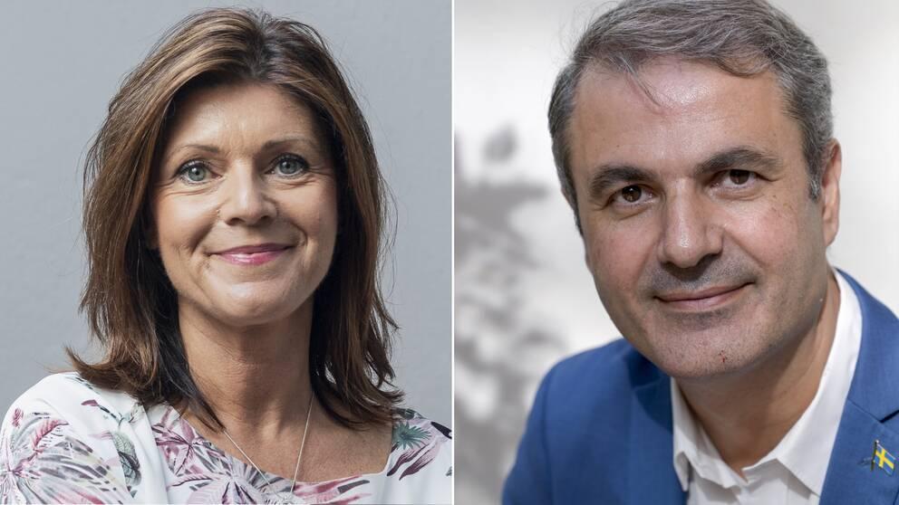Arbetsminister Eva Nordmark (S) och näringsminister Ibrahim Baylan (S)
