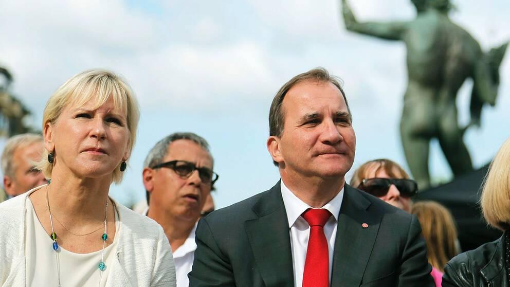 Utrikesminister Margot Wallström och statsminister Stefan Löfven.