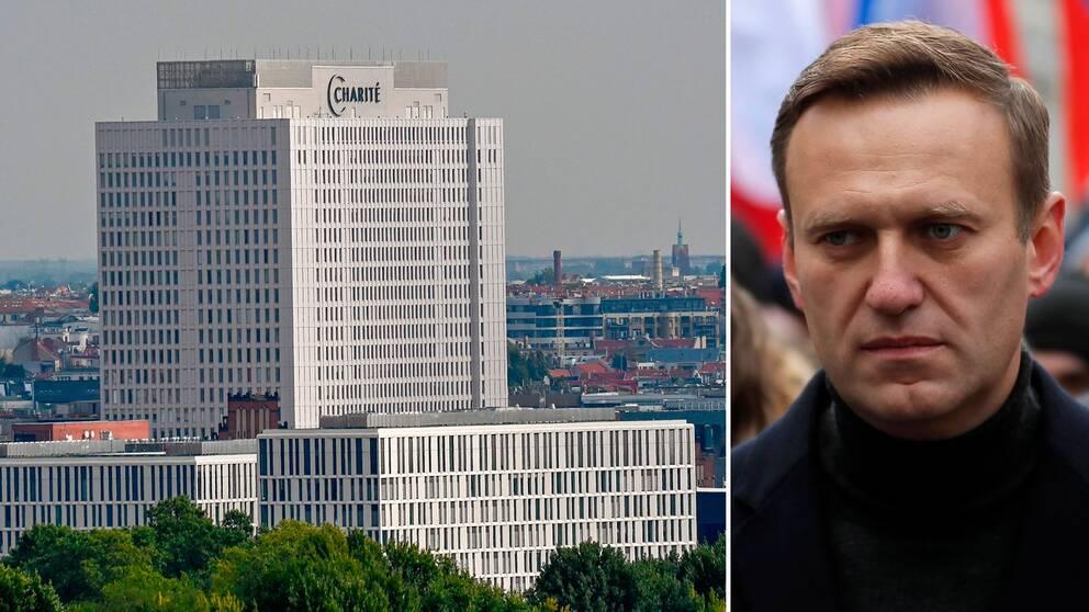 Fruktan för nya mordförsök gör att säkerhetsarbetet skärpts på sjukhuset där den ryske regimkritikerna Aleksej Navalnyj vårdas.