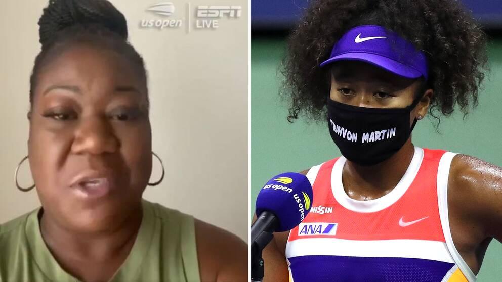 Sybrina Fulton, mamma till den avlidne 17-åringen Trayvon Martin och Naomi Osaka.