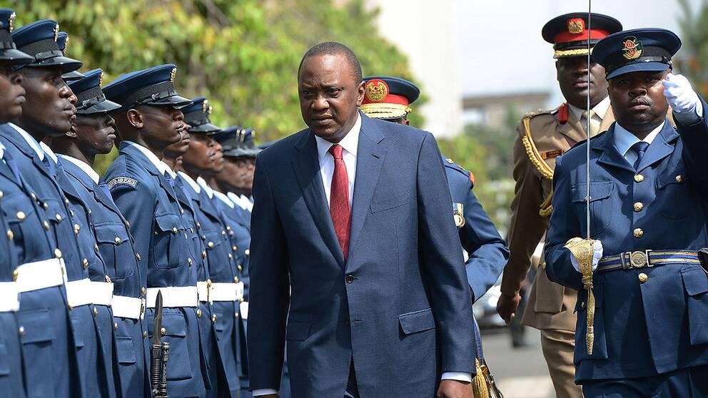 Kenyas president Uhuru Kenyatta