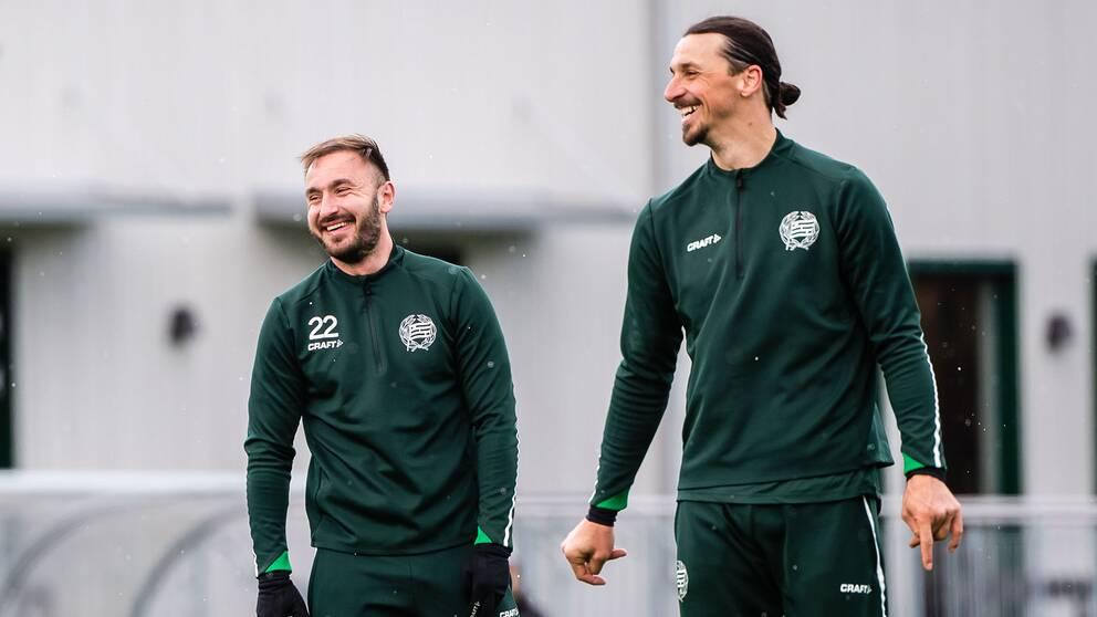 Muamer Tankovic och Zlatan Ibrahimovic.