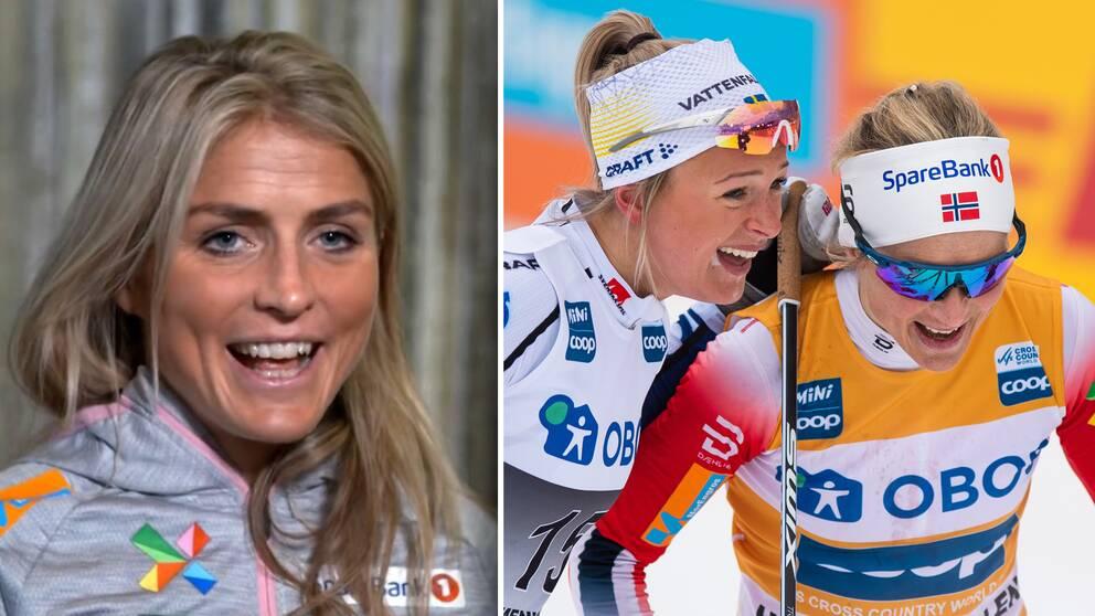 Therese Johaug blir fortfarande påmind om tremilsspurten mot Frida Karlsson i vintras.