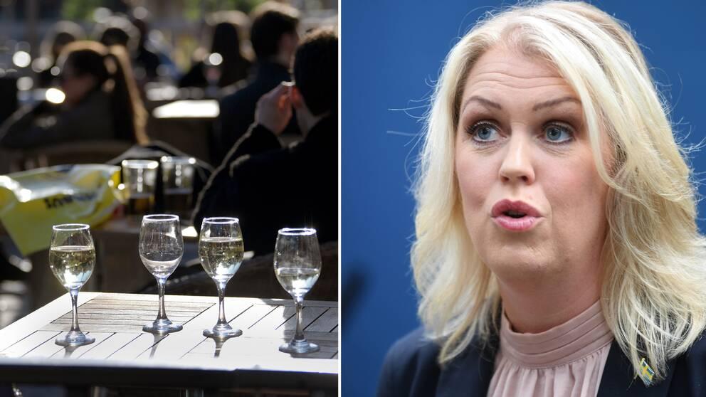Socialminister Lena Hallengren svarar på krögarkritiken.