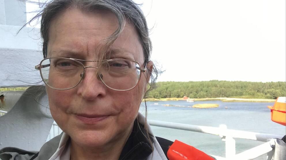 Eva Vaihinen, en av passagerarena på grundstötta Amorella.