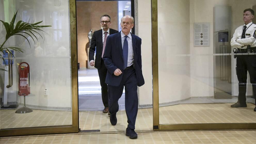 Riksbankschefen Stefan Ingves presenterar räntebesked.