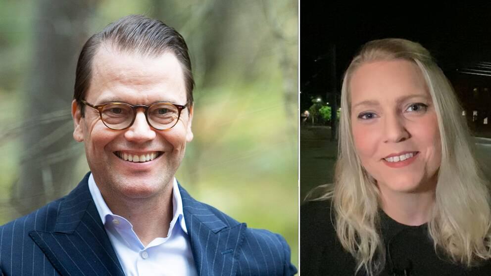 Prins Daniel och SVT:s Carina Bergfeldt
