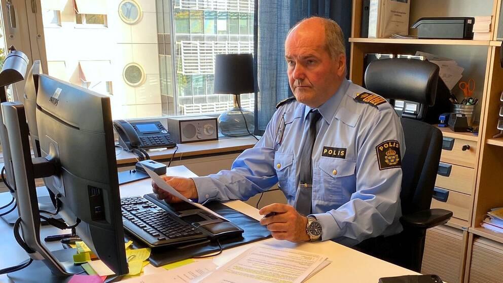 Thomas Nilsson, chef vid utredningsenheten och insatschef för Strålkastaren i regionen.