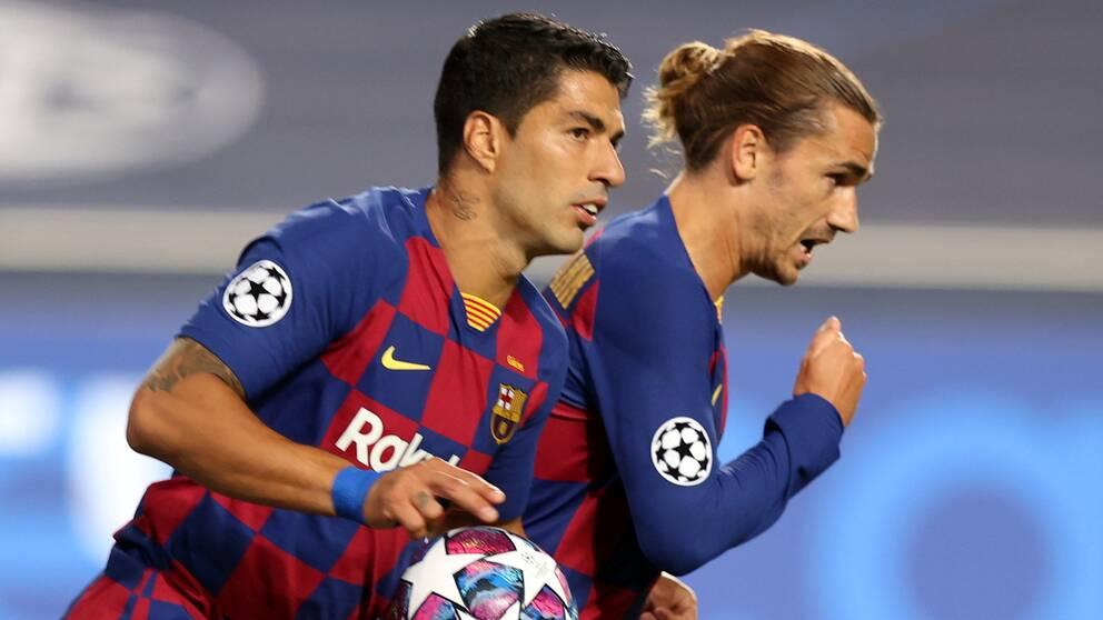 Luis Suarez i Barcelona-tröjan.