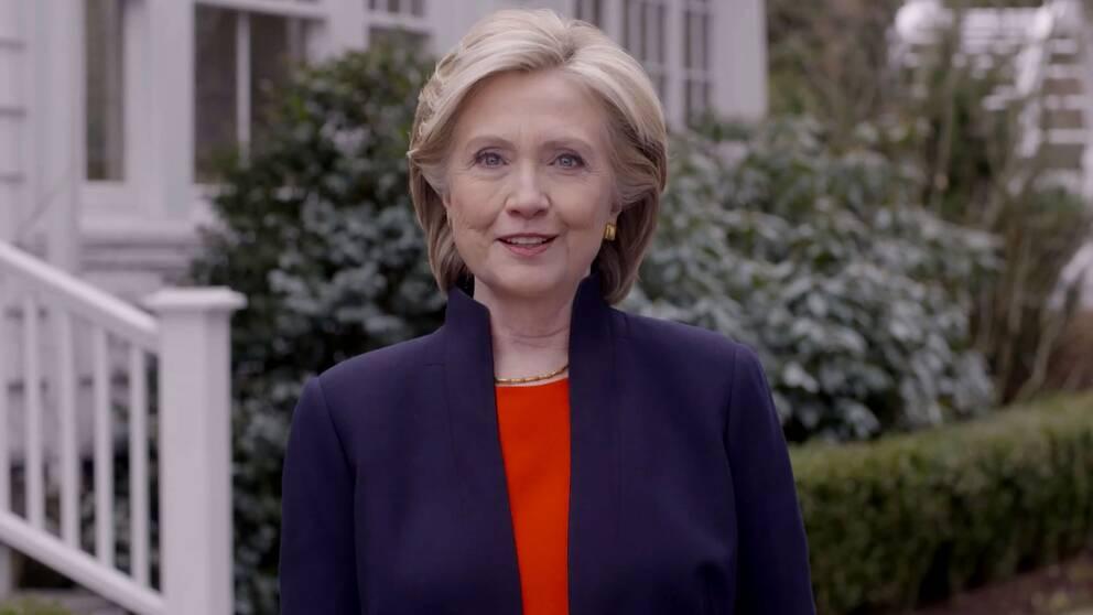Ur videon där Hillary Rodham Clinton berättade att hon vill bli USA:s nästa ledare.