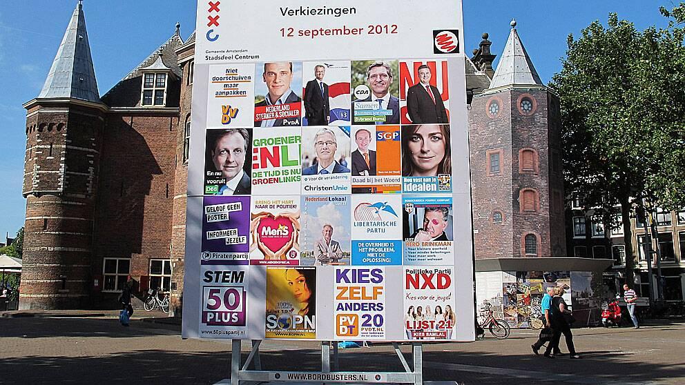 Valaffischeri inför valet i Nederländerna