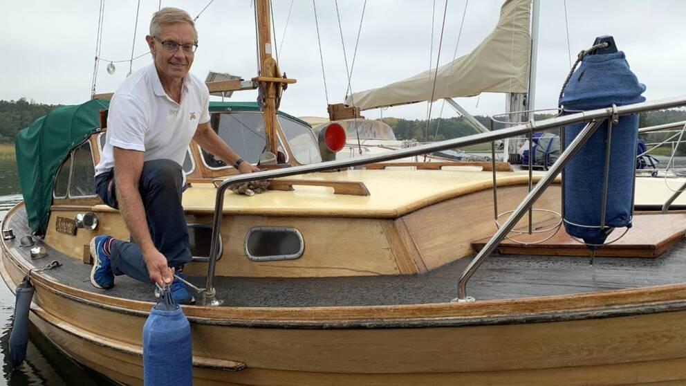 – Det här är ett trendbrott för priserna på båtar har ju gått ner under många år, säger Göran Fredriksson i Taxinge båtklubb.